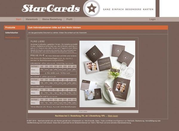 Für die schönsten Tage im Leben – StarCards liefert ganz persönliche Karten